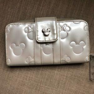 Disney Mickey & Minnie Mouse White Wallet